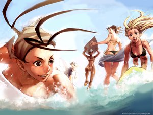 Rating: Safe Score: 85 Tags: bikini cammy_white capcom chun-li elena ibuki makoto street_fighter swimsuit udon User: Tiki
