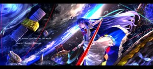 Rating: Safe Score: 128 Tags: earth hat hinanawi_tenshi planet ryosios space torii touhou User: luckyluna