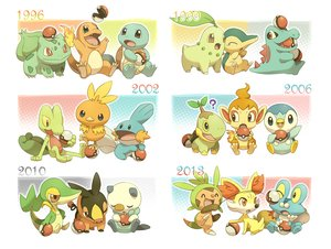 Rating: Safe Score: 84 Tags: bulbasaur charmander chespin chikorita chimchar cyndaquil fennekin froakie group jippe mudkip oshawott piplup pokemon snivy squirtle tepig torchic totodile treecko turtwig User: FormX