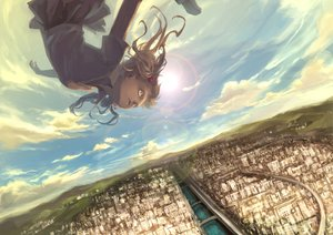 Rating: Safe Score: 91 Tags: building city clouds mizukai scenic school_uniform shirai_kuroko skirt sky to_aru_kagaku_no_railgun to_aru_majutsu_no_index water User: FormX
