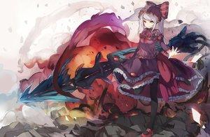Rating: Safe Score: 122 Tags: goth-loli lolita_fashion mitu_yang overlord shalltear_bloodfallen vampire weapon User: luckyluna