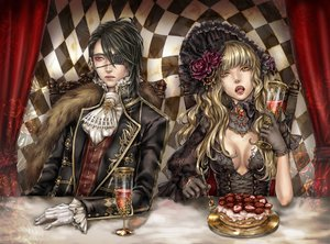 Rating: Safe Score: 151 Tags: blood breasts cleavage dr. drink eyepatch flowers food fruit gloves gothic goth-loli lolita_fashion male strawberry tagme vampire User: HawthorneKitty