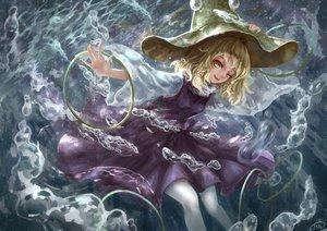 Rating: Safe Score: 59 Tags: blonde_hair bubbles hat kiyomasa_ren moriya_suwako short_hair skirt touhou underwater water wink yellow_eyes User: Flandre93