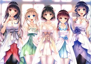 Rating: Safe Score: 303 Tags: black_hair blonde_hair blue_eyes blue_hair blush breasts brown_eyes cleavage dress elbow_gloves fang garter_belt gloves group hashima_izumi headband hyoudou_michiru kasumigaoka_utaha katou_megumi long_hair misaki_kurehito navel necklace purple_eyes red_eyes red_hair saenai_heroine_no_sodatekata sawamura_spencer_eriri short_hair thighhighs twintails underwear User: BattlequeenYume