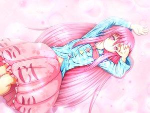 Rating: Safe Score: 45 Tags: hata_no_kokoro long_hair navel pink_eyes pink_hair tagme_(artist) touhou User: C4R10Z123GT