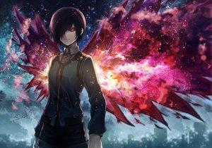 Rating: Safe Score: 268 Tags: angel31424 black_hair kirishima_touka red_eyes short_hair tokyo_ghoul wings User: FormX
