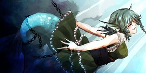 Rating: Safe Score: 59 Tags: chain dress green_hair mermaid short_hair sooru0720 touhou wakasagihime wings User: Flandre93