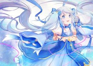 Rating: Safe Score: 54 Tags: aqua_eyes aqua_hair hatsune_miku long_hair twintails vocaloid User: luckyluna