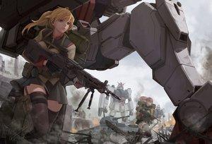 Rating: Safe Score: 69 Tags: gun mobile_suit_gundam rx-79g shou_mai uniform weapon User: FormX
