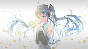 Rating: Safe Score: 36 Tags: hatsune_miku long_hair tagme_(artist) twintails vocaloid User: sadodere-chan