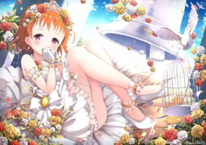 Rating: Safe Score: 51 Tags: animal bell bird blush cage clouds dress flowers gloves headdress love_live!_school_idol_project love_live!_sunshine!! niwasane_(saneatsu03) orange_hair red_eyes rose short_hair signed sky takami_chika tiara wedding_attire User: BattlequeenYume