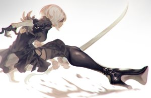 Rating: Safe Score: 27 Tags: blindfold boots fajyobore323 nier nier:_automata sword weapon yorha_unit_no._2_type_b User: FormX