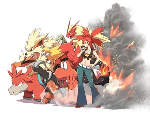 Rating: Safe Score: 94 Tags: arcanine asuna_(pokemon) blaziken breasts camerupt cleavage fire houndoom magcargo navel pokemon red_eyes red_hair tm_(artist) torkoal User: otaku_emmy