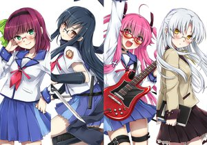 Rating: Safe Score: 241 Tags: angel_beats! blue_hair blush brown_eyes choker glasses gray_hair green_eyes guitar instrument knife long_hair nakamura_yuri natsu_natsuna_(imomu) pink_hair purple_hair red_eyes seifuku shiina skirt tachibana_kanade yellow_eyes yui_(angel_beats!) User: opai