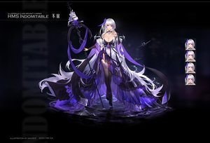 Rating: Safe Score: 37 Tags: anthropomorphism azur_lane black dress gray_hair long_hair original purple_eyes staff swd3e2 water watermark User: BattlequeenYume