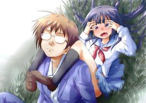 Rating: Safe Score: 60 Tags: blush bungaku_shoujo_(danshi_koukousei) danshi_koukousei_no_nichijou eschatology00 fang glasses purple_eyes school_uniform skirt tabata_hidenori User: PAIIS