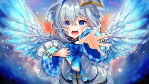 Rating: Safe Score: 36 Tags: amane_kanata angel gray_hair halo hololive purple_eyes syukonbu wings User: BattlequeenYume
