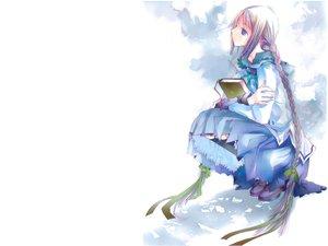 Rating: Safe Score: 16 Tags: blue_eyes book braids bungaku_shoujo gray_hair long_hair white User: w7382001