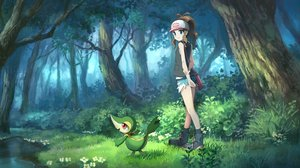 Rating: Safe Score: 37 Tags: flowers forest grass pippi_(p3i2) pokemon snivy touko_(pokemon) tree User: FormX