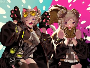 Rating: Safe Score: 52 Tags: animal_ears anthropomorphism bsue catgirl girls_frontline p90_(girls_frontline) signed sunglasses tail thighhighs torn_clothes User: Dreista