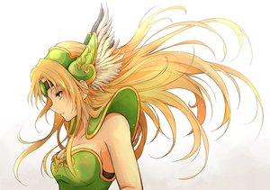 Rating: Safe Score: 57 Tags: armor blonde_hair breasts feathers gradient headdress long_hair orange_eyes riesz seiken_densetsu shimoda_masaya User: Hakha