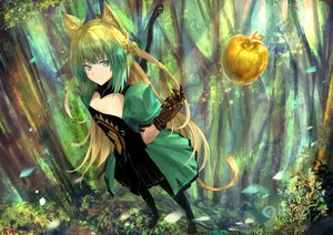 Rating: Safe Score: 58 Tags: animal_ears apple atalanta_(fate) brown_hair catgirl fate/apocrypha fate_(series) food fruit gloves green_eyes long_hair tagme_(artist) tail tree User: BattlequeenYume