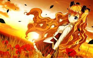 Rating: Safe Score: 56 Tags: flowers furumiya_elis nanatsu_no_fushigi_no_owarutoki sunset twintails ueda_ryou User: gnarf1975