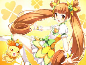 Rating: Safe Score: 93 Tags: animal bear blush boots brown_hair cure_rosetta dokidoki!_precure long_hair nimame_(chickbeans) precure twintails yellow_eyes User: ANIMEHTF