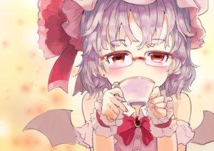 Rating: Safe Score: 27 Tags: blush bow close drink glasses hat purple_hair red_eyes remilia_scarlet short_hair sinzan touhou vampire wings wristwear User: otaku_emmy
