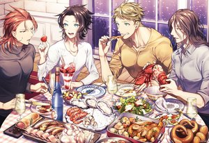 Rating: Safe Score: 7 Tags: all_male black_hair blonde_hair brown_hair drink food fruit granblue_fantasy green_eyes group lancelot_(granblue_fantasy) long_hair male matsuki_tou orange_(fruit) percival_(granblue_fantasy) red_eyes red_hair short_hair siegfried_(granblue_fantasy) signed snow strawberry vane_(granblue_fantasy) yellow_eyes User: otaku_emmy