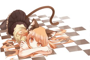 Rating: Safe Score: 218 Tags: animal_ears beigu catgirl cat_smile long_hair orange_eyes orange_hair original skirt tail User: Tensa