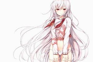Rating: Safe Score: 84 Tags: komeshiro_kasu long_hair original panties red_eyes ribbons scan underwear white white_hair User: Nepcoheart