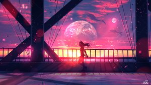 Rating: Safe Score: 158 Tags: animal clouds headphones long_hair original planet ryky scenic sky sunset User: BattlequeenYume