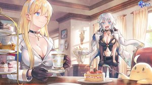 Rating: Safe Score: 133 Tags: 2girls animal anthropomorphism azur_lane bird cake food jpeg_artifacts lino_chang manjuu_(azur_lane) north_carolina_(azur_lane) washington_(azur_lane) User: Fepple