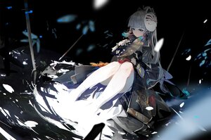 Rating: Safe Score: 48 Tags: armor asa_ni_haru fan genshin_impact gray_hair kamisato_ayaka mask ponytail samurai water User: BattlequeenYume