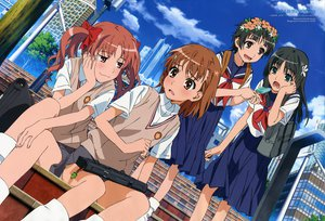 Rating: Safe Score: 29 Tags: black_hair blush bow brown_eyes brown_hair building city clouds food green_eyes headdress ice_cream kiyoshi_tateshi kneehighs long_hair misaka_mikoto pink_eyes saten_ruiko seifuku shirai_kuroko short_hair skirt socks stairs to_aru_kagaku_no_railgun to_aru_majutsu_no_index twintails uiharu_kazari watermark windmill User: HawthorneKitty