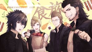 Rating: Safe Score: 36 Tags: all_male black_eyes black_hair blonde_hair brown_eyes brown_hair camera final_fantasy final_fantasy_xv food gladiolus_amicitia glasses gloves gray_eyes group ignis_scientia long_hair male necklace noctis_lucis_caelum open_shirt prompto_argentum scar short_hair signed tagme_(artist) waifu2x User: otaku_emmy
