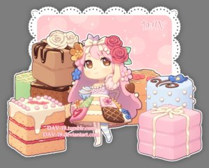 Rating: Safe Score: 12 Tags: brown_eyes cake chibi choker dav-19 flowers food lolita_fashion long_hair original pantyhose pink_hair rose transparent waifu2x watermark User: otaku_emmy