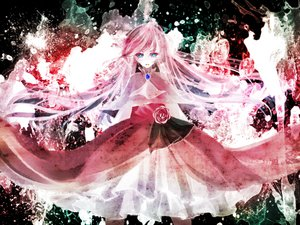Rating: Safe Score: 60 Tags: dress flowers megurine_luka mirimo rose vocaloid User: MissBMoon