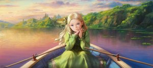 Rating: Safe Score: 10 Tags: blonde_hair blue_eyes boat building clouds dress long_hair marnie nababa omoide_no_marnie scenic sky water User: Flandre93