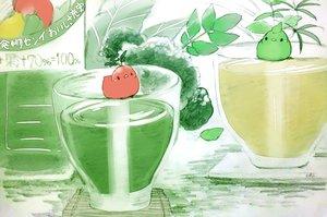 Rating: Safe Score: 33 Tags: animal bird chai_(artist) drink food fruit leaves original signed sketch User: otaku_emmy