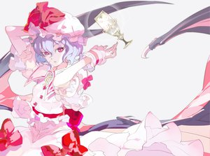 Rating: Safe Score: 34 Tags: 119 hat pink_eyes remilia_scarlet short_hair touhou vampire wings User: Kunimura