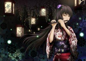 Rating: Safe Score: 232 Tags: black_hair din_(raiden) flowers flute instrument japanese_clothes long_hair megurine_luka vocaloid User: FormX