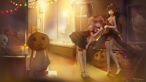Rating: Safe Score: 62 Tags: 2girls akemi_homura animal black_hair blackrabbitsoul braids breasts cat collar demon dress fire garter glasses halloween horns kaname_madoka kyuubee long_hair mahou_shoujo_madoka_magica mask pink_hair pointed_ears ponytail pumpkin purple_eyes red_eyes short_hair sideboob skull tail User: RyuZU