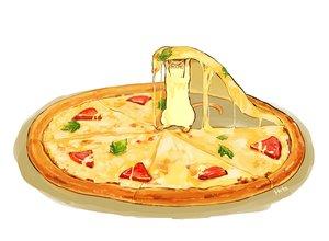 Rating: Safe Score: 55 Tags: animal cat food hakuchizu_(jedo) nobody original pizza signed white User: otaku_emmy