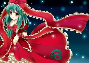 Rating: Safe Score: 26 Tags: aqua_eyes aqua_hair bow dress kagiyama_hina mochinya21 touhou User: C4R10Z123GT