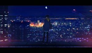 Rating: Safe Score: 37 Tags: amino_(tn7135) building city moon night original User: FormX