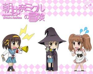 Rating: Safe Score: 35 Tags: asahina_mikuru asahina_mikuru_no_bouken chibi nagato_yuki nagian suzumiya_haruhi suzumiya_haruhi_no_yuutsu waitress witch User: Oyashiro-sama