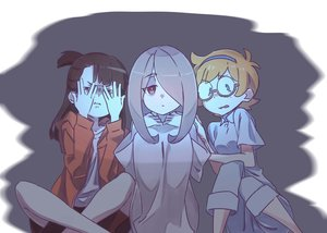 Rating: Safe Score: 39 Tags: blue_eyes brown_eyes brown_hair dark glasses headband hoodie kagari_atsuko little_witch_academia long_hair lotte_yanson orange_hair ponytail purple_hair red_eyes short_hair shorts sucy_manbavaran tama_(tama-s) User: otaku_emmy