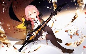 Rating: Safe Score: 97 Tags: cangkong guilty_crown long_hair pink_hair red_eyes skirt sword thighhighs weapon yuzuriha_inori User: luckyluna
